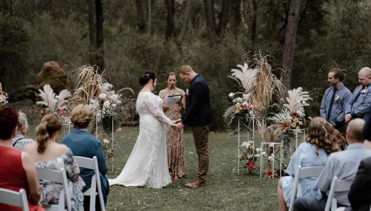 Affordable wedding venue Southern Highlands bush