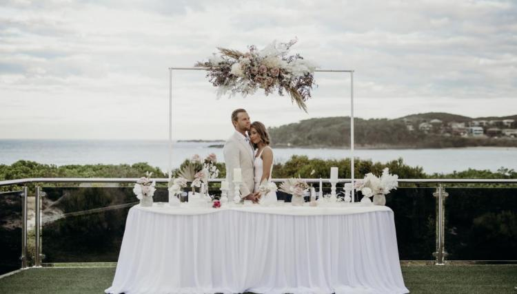 Waterfront wedding venue fingal bay