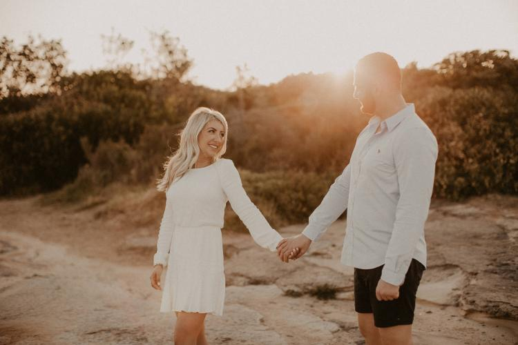 engagement photographer sydney beaches